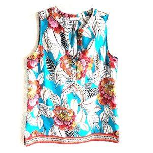 Sleeveless floral print Dalia top